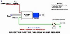 electric fuel pump circuits without a relay wiring diagrams