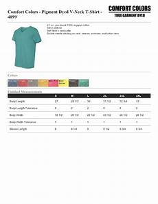 Comfort Colors Tank Size Chart Comfort Colors 4099 Pigment Dyed V Neck T Shirt 5 88