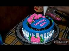 Kue Ulang Tahun Bentuk Warna Biru Seputar Bentuk