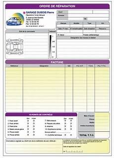 ordre de réparation garage atelier standard forms