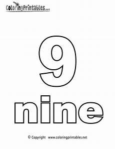 Number Nine Coloring Number Nine Coloring Page Printable Arte Para Ni 241 Os