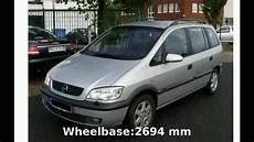 2002 Opel Zafira 1 8 16v Specs And Walkaround