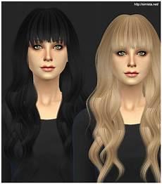 custom content hair sims 4 sims 4 hairs simista ela sims hairstyle 20 retextured