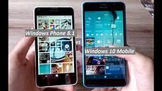 windows mobile 8 1 windows phone 8 1 vs windows 10 mobile comparativo em
