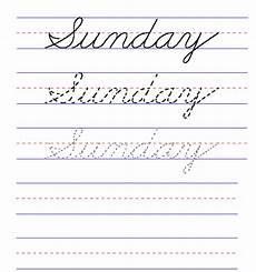 cursive handwriting worksheets days of the week 21350 handwriting for cursive day of the week sunday 2nd grade cursive