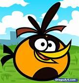 How To Draw An Orange Angry Bird Birds