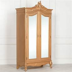 style carved gold armoire wardrobe with