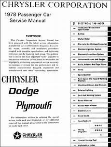 1978 Chrysler Shop Manual Cd Lebaron New Yorker Newport