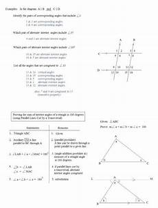 parallel lines cut by a transversal worksheet answer key briefencounters