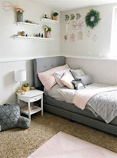 Bedroom Ideas For Pink And Grey by Gorgeous Blush Grey Bedroom Makeover Diy Busy Monday