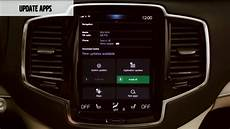 Volvo How To Update Apps With Volvo Sensus Connect