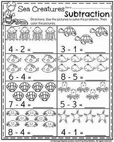 summer kindergarten worksheets kindergarten math worksheets kindergarten subtraction