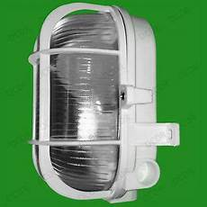 white caged oval glass ip44 security bulkhead wall l fitting 40w light bulb ebay