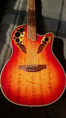 Ovation Deluxe Electro Acoustic Guitar In