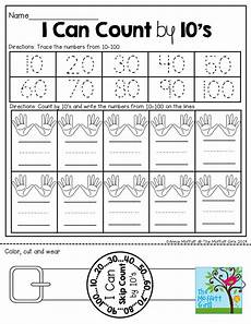 skip counting by 10 s worksheet for kindergarten 12022 i can count by 10 s the wearable at the bottom math lessons math classroom