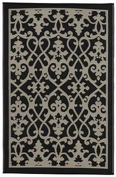 outdoor teppich schwarz weiß garten im quadrat outdoor teppich venedig ranken