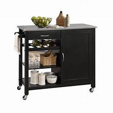 Stylish Freestanding Kitchen Islands Carts In 2020 Porch Den Sanborn White Black Mdf Kitchen Cart In 2020