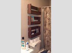 Shelves from pallets! My boyfriend is handy!   Pallet