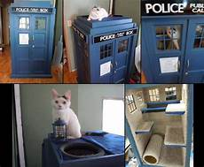 tardis cat house plans cardis tardis cat house cat furniture kitty games cat