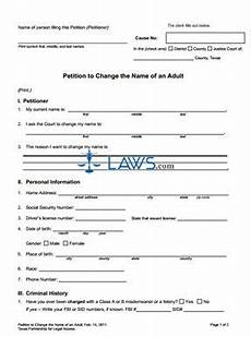 form name change adult packet texas forms laws com