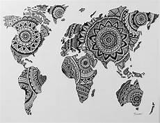Malvorlagen Map Zentangle World Map Tatuaje Mapamundi Mandalas Arte