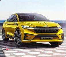 Mazda Elbil 2020 by 2020 Skoda Vision Concept Debuts With Coupe Suv Styling At