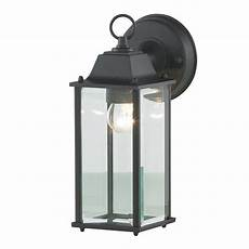 colone outdoor lantern bevelled glass wall light black