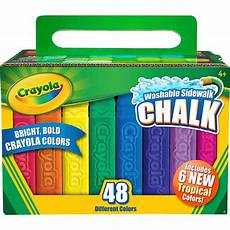 Amazon Com Washable Sidewalk Chalk 48 Assorted Bright Crayola Washable Bright Sidewalk Chalk Sticks 48 In Each