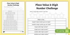 place value worksheets year 6 free 5356 place value 6 digit number challenge worksheet worksheet scottish