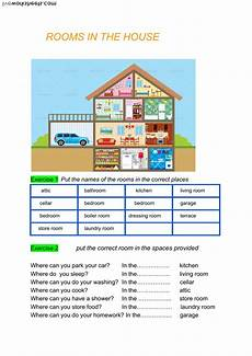 places in the house worksheets 15999 rooms in the house interactive worksheet