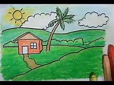 Cara Menggambar Pemandangan Untuk Anak Anak
