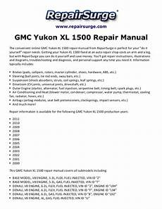 car repair manuals download 2000 gmc yukon xl 1500 instrument cluster gmc yukon xl 1500 repair manual 2000 2011
