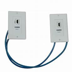 hdmi cat 5 wiring tripp lite hdmi cat5 wall plate extension kit p167 000 the home depot