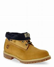 lyst timberland wheat navy af roll top boots in