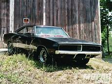 1969 dodge charger rt in barn black classic hd wallpaper