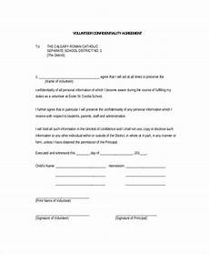 volunteer confidentiality agreement 10 free word pdf documents download free premium