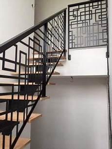 re escalier bois et fer forgé garde corps escalier acier d 233 coup 233 au laser avec peinture