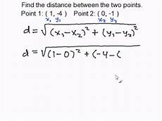 finding the distance between two points youtube