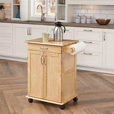 Kitchen Island Cart With Cabinets by Home Styles Solid Wood Kitchen Cart Walmart