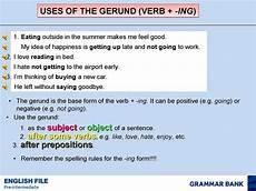 calam 233 o uses of the gerund