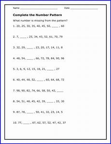 number patterns worksheets math drills 73 complete math number pattern worksheet algebra worksheets like terms math drills