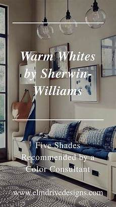 warm whites by sherwin williams recommended by a color consultant elm designs