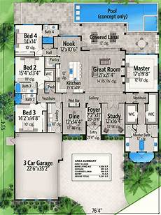 floridian house plans plan 65615bs spacious florida house plan in 2020