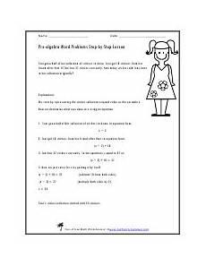 pre algebra word problems worksheets