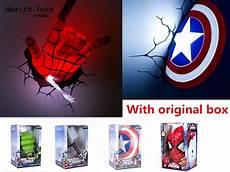 2016 new creative marvel avengers america captain shield spider man hulk thor hammer 3d