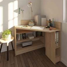 faire un bureau en bois bureau d angle en bois imitation naturel avec niche de
