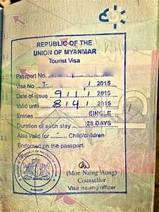 how to get a visa for myanmar in bangkok nomadic blog