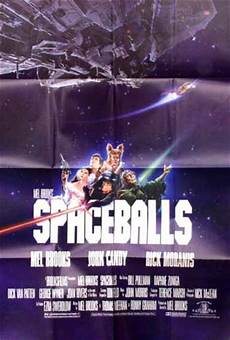 spaceballs 1987 mel one sheet f nm 40