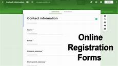 how to create online forms for website how to create online registration form using docs
