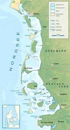 Ostfriesische Inseln Karte - ostfriesische inseln karte